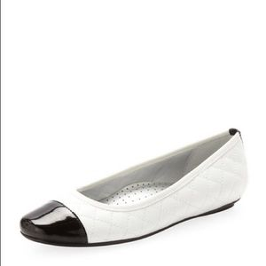 NWT Neiman Marcus Quilted Ballet Flat